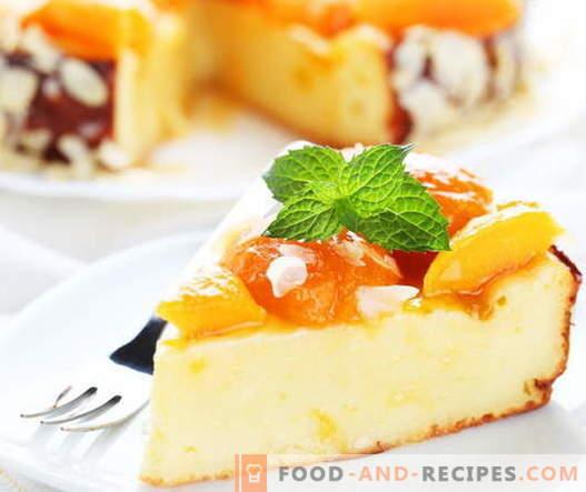 Käsekuchenauflauf - die besten Rezepte. Wie man richtig und lecker Hüttenkäseauflauf kocht.