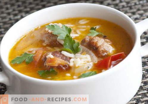 Suppen mit Reis - die besten Rezepte. Wie man richtig und lecker Kochsuppe mit Reis kocht.