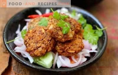 Hercules Koteletts - nützlich! Leckere Hercules-Koteletts mit Gemüse, Leber, Hackfleisch, Konserven, Pilzen und Käse