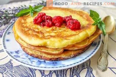 American pancakes - tasty, satisfying and very economical!