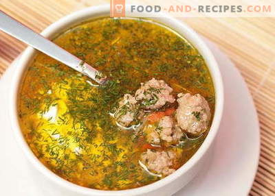 Fleischbällchensuppe - die besten Rezepte. Wie man richtig Suppe mit Hackbällchen kocht.