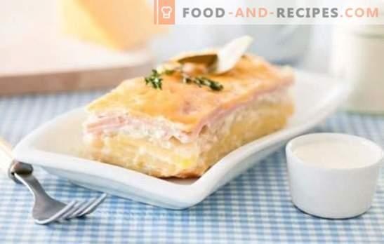 Kartoffelauflauf in einem Multikocher - anders! Rezepte für Kartoffelauflauf mit Hackfleisch, Käse, Pilzen, Fisch