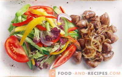 Hühnerherzen mit Zwiebeln - alltägliche Köstlichkeit! Rezepte gebraten, gedünstet, gebackene Herzen mit Zwiebeln, Karotten