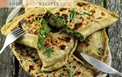 Kutaby mit Gemüse und Käse - das sind Pasteten! Rezepte und schrittweise Zubereitung von aserbaidschanischem Kutab mit Käse und Gemüse