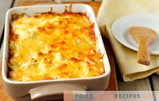 Gratin mit Hackfleisch - wir backen Kartoffeln auf Französisch! Herzhaftes und leckeres Gratin mit Hackfleisch und Tomaten, Champignons und Zucchini