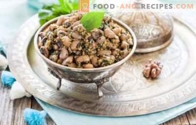Weiße Bohnen Lobio - klassische georgische Küche. Rezepte für weiße Bohnen mit Gemüse, Pilzen, Hühnchen