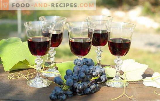 Selbstgemachte Traubenfüllung - natürlich! Rezepte Traubenlikör zu Hause: mit Wodka, Zucker oder Alkohol