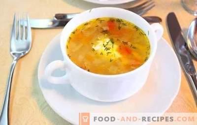 Frische Kohlsuppe in einem langsamen Kocher ist eine moderne Suppe. Rezepte Kohlsuppe aus frischem Kohl in einem langsamen Kocher: mit Pilzen, Bohnen, Oliven
