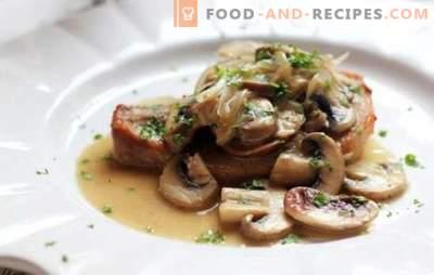 Schweinekoteletts mit Pilzen - Fleischpracht, überirdischer Geschmack! Die besten Rezepte köstlicher Schweinekoteletts mit Pilzen