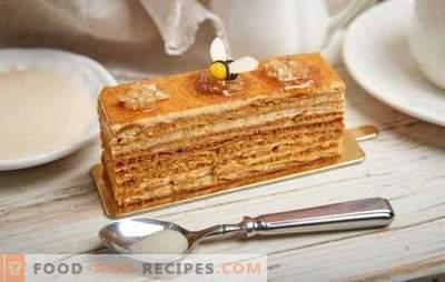 Honigkuchen: Schritt für Schritt Rezept mit einem Foto Ihres Lieblingskuchens. Kochen Sie zu Hause mit schrittweisen Rezepten und einem Foto eines leichten klassischen oder nussigen Honigkuchens