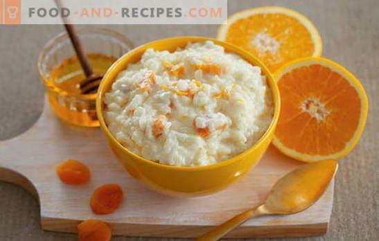 Geheimnis: wie man Reisbrei mit Milch kocht. Wie man Reisbrei in Milch kocht: einfache Rezepte - Sie lecken sich die Finger!