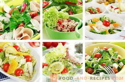 Diätetische Salate - die besten Rezepte. Wie man richtig und schmackhafte Diätkost zubereitet.