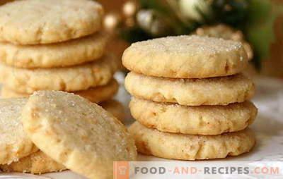 Kekse auf Sauerrahm - selbstgemacht wird begeistert sein! Einfache Rezepte Sauerrahmkekse mit Kakao, Rosinen, Nüssen, Hüttenkäse, Kondensmilch