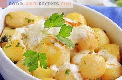 Kartoffeln in Sauerrahm - die besten Rezepte. Wie man richtig und lecker Kartoffeln in Sauerrahm kocht.
