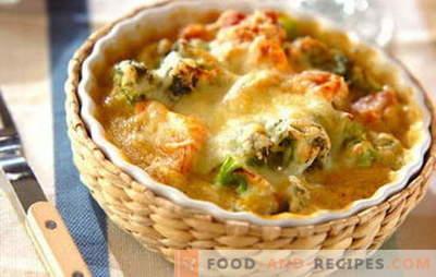 Hähnchenfiletauflauf - eine schnelle Lösung für ein leckeres Abendessen. Die besten Rezepte zarter Aufläufe mit Hühnerfilet
