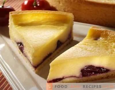 Quarkkäsekuchen - die besten Rezepte. Wie man richtig und schmackhafter Käsequarkkuchen kocht.