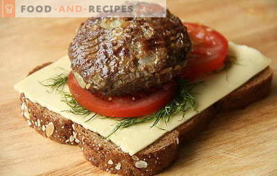 Kochen von saftigen und zarten Rind- und Schweinekoteletts. Alle Geheimnisse des Kochens von hausgemachten Frikadellen aus gehacktem Schweinefleisch und Rindfleisch