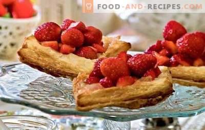 Strawberry Pies - Sommer zu tun! Rezepte mit Erdbeeren aus Hefe, Blätterteig, Kefir, Mürbteig