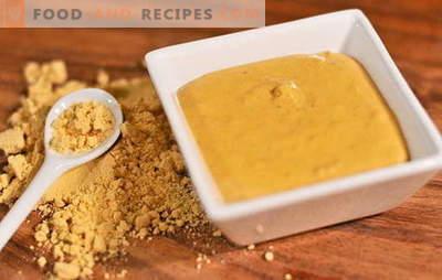 Spezielle Rezepte für die Herstellung von Senfpulver zu Hause. Senf aus heimischem Pulver: Das Geheimnis der würzigen Würze