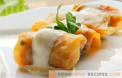 Kohlrouladen in einem langsamen Kocher: Schritt für Schritt Rezepte mit Fleisch und Reis. Rezepte für Klassiker, Blätterteig und Faulkraut in einem langsamen Kocher (Schritt für Schritt)