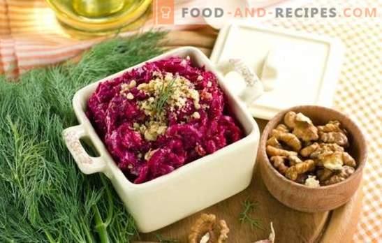 Leckeres Essen Rübensalat Mit Knoblauch Klassische Und Neue