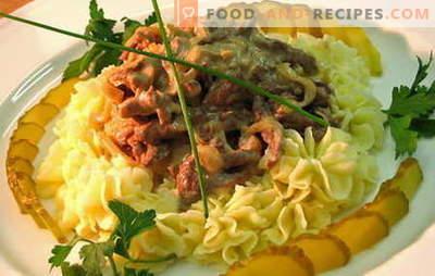 Stroganoff für Rindfleisch - die besten Rezepte. Wie man richtig und lecker kocht Rindfleisch Stroganoff.