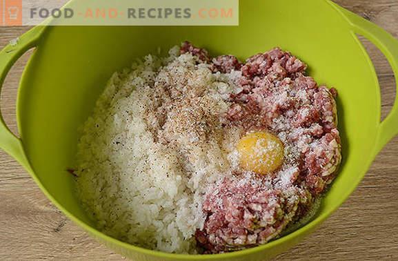 Fleischbällchen mit Reis in Soße: Kinder lieben, Erwachsene lieben! Autor Schritt für Schritt Foto-Rezept von Frikadellen mit Reis in einem Slow Cooker