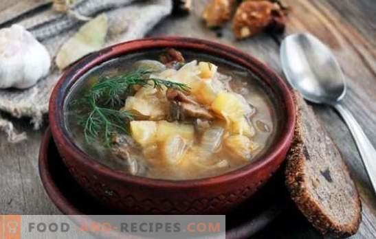 Fastensuppe mit Pilzen - alte Rezepte in der modernen ...