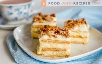 Wie man aus Crackern einen Originalkuchen backt, ohne zu backen. Leckere Cracker-Kuchen ohne Backen: schnelle und einfache Rezepte