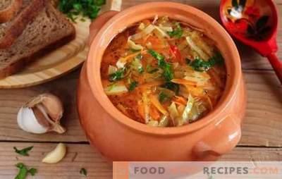Magere Kohlsuppe aus Sauerkraut - Rezepte und Kochgeheimnisse. Wie köstliche magere Sauerkrautsuppe zu kochen