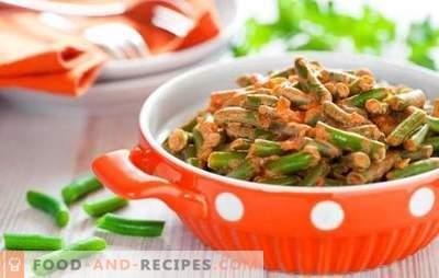 Wie man grüne Bohnen lecker und schnell zubereitet: Salat, Beilage mit Gemüse, Eier, Pilze. Grüne Bohnen lecker kochen - Rezepte