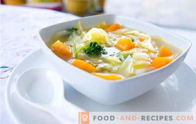 Soupe au chou - Recettes éprouvées et de l'auteur. Comment faire cuire la soupe au chou: chou-fleur, brocoli, chou-rave
