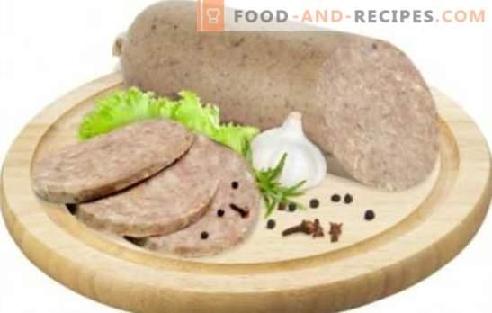 Leberwurst nach Hause - Budget finden. Leberwurst zu Hause kochen mit Speck, Reis, Buchweizen