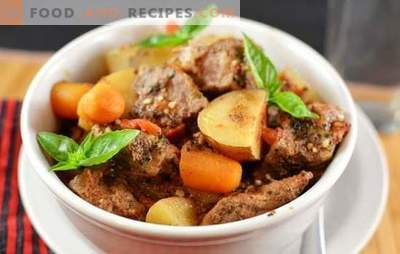 Geschmorte Kartoffeln mit Fleisch: Rezepte für hausgemachte Köstlichkeiten. Kartoffeln mit Fleisch im Ofen, Schmortopf und Schnellkochtopf