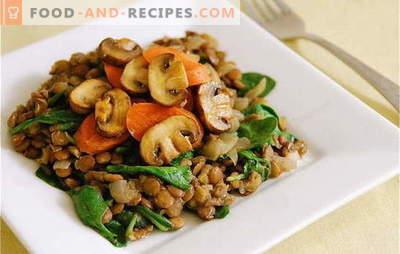 Gebratene Champignons mit Karotten - die besten Rezepte. Geheimnisse beim Kochen von gebratenen Champignons mit Karotten: in Sauerrahm, mit Gemüse und Müsli
