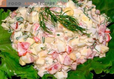 Krabbensalat mit Käse - die fünf besten Rezepte. Wie richtig und lecker gekochter Krabbensalat mit Käse.