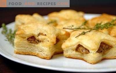 Puff pastry puffs with minced meat - crispy juicy pastries. A selection of the best recipes for puff pastry puffs with minced meat
