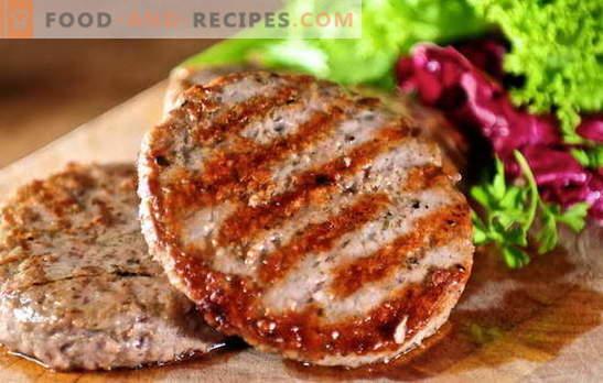 Saftige Hackfleischpasteten: einfache und komplexe Rezepte. Wie man leckere und saftige Fleischbällchen aus Hackfleisch zubereitet: Rindfleisch, Schweinefleisch, Hühnchen, Fisch