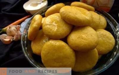 Corn Khinkali - kleine Sonnen auf dem Tisch! Rezepte verschiedener Maiskinkini: mit Fleisch, Käse, Kürbis, Brennnessel, Quark