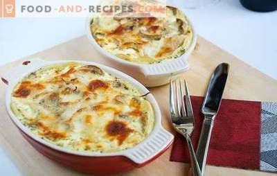 Kabeljau in Sauerrahm ist ein schmackhaftes und preiswertes Gericht. Kabeljau-Rezepte in Sauerrahm mit Wein, Sahne, Garnelen, Bohnen und Gemüse