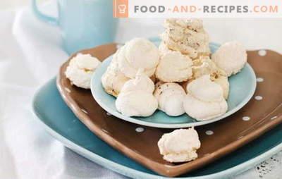 Meringue zu Hause - Luftküsse. Wie man Vanille-, Schokoladen-, Nuss- und Beeren-Baiser zu Hause kocht