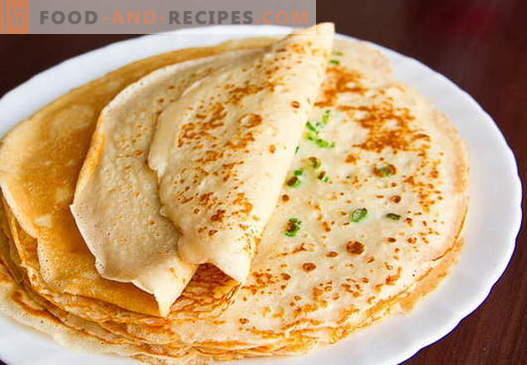 Pfannkuchen mit saurer Milch - bewährte Rezepte. Wie man richtig und lecker Pfannkuchen mit saurer Milch kocht.