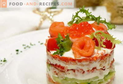 Salad fur coat with salmon - the right recipes. Quickly and tasty cooking salad coat with salmon.