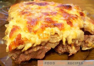 Fleisch mit Käse - die besten Rezepte. Wie man richtig mit Käse kocht.
