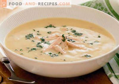Hühnerrahmsuppe - die besten Rezepte. Wie man richtig und lecker Hühnersuppe kocht.