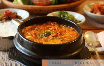 Würzige Suppe ist ein wärmendes Gericht mit Pfeffer. Rezepte mit würzigen Suppen mit Hühnchen, Linsen, Tomaten, Frikadellen, Garnelen