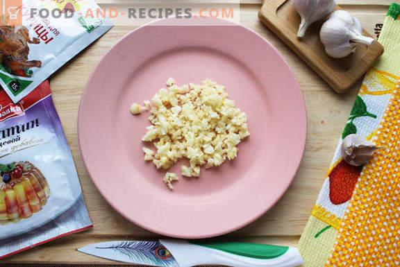 Natürliche hausgemachte Hühnerwurst - ein sehr einfaches Rezept