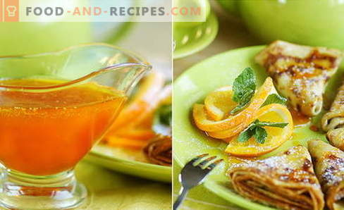 Orangensauce - die besten Rezepte. Wie man Orangensauce kocht.