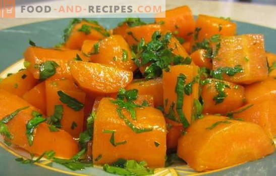 Geschmorte Karotten sind eine helle und gesunde Beilage und gehören zu vielen Gerichten. Die besten Rezepte für gedünstete Karotten und Gerichte mit ihrer Teilnahme
