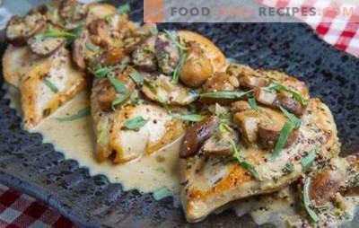 In einer Pfanne: die Top 10 der besten, einfachen und ungewöhnlichen Rezepte. Wie man schnell Hühnerbrust in einer Pfanne kocht?